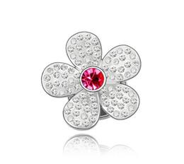 $enCountryForm.capitalKeyWord UK - Free shipping fashion jewelry Using Swarovski Elemental Crystal Brooch Lagerstroemia indica High-end Dress decoration Brooches Pins