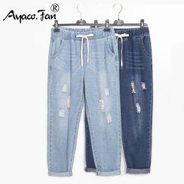 $enCountryForm.capitalKeyWord Australia - Plus Size 5xl Harem Pants For Womens Students Boyfriend Loose Jeans Ankle-length Pants Lady Pantalon Femme Stretch Trousers J190621