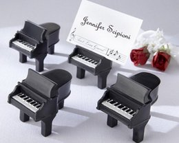 Halloween Place Card Holders Australia - Unique Design Mini Piano Place Card Holder Photo Holders Seat Clip With Card Wedding Party Decoration Favors DHL Free Shipping