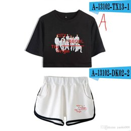 Shirts Low Prices Australia - Factory direct supply price low quality excellent 2019 new album Nct 127 surrounding beautiful umbilical short-sleeved T-shirt shorts suit f