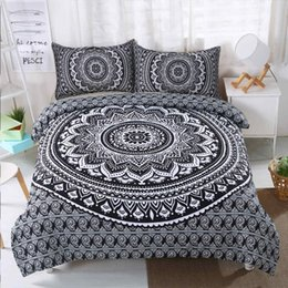 $enCountryForm.capitalKeyWord UK - Thumbedding Dropship Black White Flowers Bedding Sets Bohemia Design 3D Duvet Cover Set 100% Microfiber Colorful Bed Set