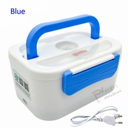 Infant Glasses Australia - New 1.25L 40W Electric heating lunch box Portable PTC Heated plastic bile splitter Bento Warmer Food Container 220 110VAC 12VDC D19010902
