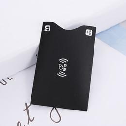 $enCountryForm.capitalKeyWord Australia - 2pcs Black white Aluminium Anti Paper Rfid Blocking Holder Safety Reader Case Smart Credit Cards Bank Card Protect