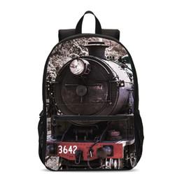 $enCountryForm.capitalKeyWord NZ - Vintage Backpacks For Boys Girls Cool Train 3D Printing School Bag Teenager Kids Bookbag Satchel Daily Backbag Casual Daypacks