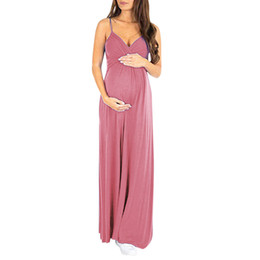 $enCountryForm.capitalKeyWord UK - Women Maternity Dresses Long Summer Elegant Sexy Sleeveless V Neck Casual Nursing Dress Pregnant Clothes Vetement Femme 19may24