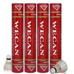 Бесплатная доставка Оригинального WECAN бадминтона Волан RED перо Волан Лучший сорт уток перо для конкуренции на Распродаже