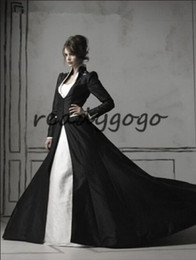 $enCountryForm.capitalKeyWord Australia - 2019 Vintage Medieval Victorian Black Gothic Wedding Dresses With Long Sleeves Two Piece High Neck Bridal Gowns Vestido De Noiva