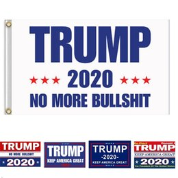 America Decor NZ - Trump Flag 2020 Keep America Great Again Banner Decor President USA Donald Trump Election No More Bullshirt Flag 3*5 feet 90*150cm MMA727 30