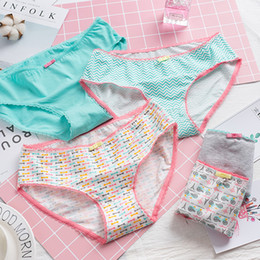 Discount cute young underwear - SP&CITY Eiffel Towel Print Cotton Panties Girls Cute Underwear Fashion Young Girl Student Panties Brazilian Underwear Br