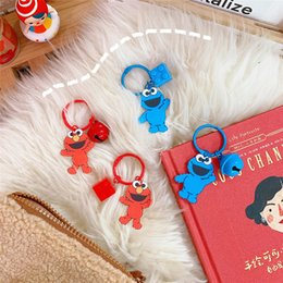 $enCountryForm.capitalKeyWord Australia - Ins Style Sesame Street Cute Bell Key Buckle Office And School Supplies Lovely Gift