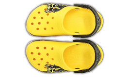 Clogs Leather Canada - 2019 Newest boys shoes for summer children Kid Bumblebee Clog kids Beach Sandals Anime yellow slippers
