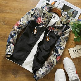 xl floral bomber jacket Australia - Dropshipping Floral Bomber Jacket 2019 New Spring Men Hip Hop Slim Fit Flowers Pilot Bomber Jacket Coat Men's Hooded Jackets SH190927