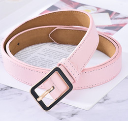 Italy leather belt online shopping - Tops Italy brand designer belts Fashion solid Big buckle Genuine leather belt brand strap Luxury belts for Mens Womens Jeans waistband