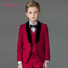 00b42a5a2 Custom Made Boy Flower Boys Formal Wedding Party Suits Kids Groom Tuxedos  Children Suits Custom made Boy's Suit 2019