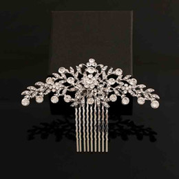 Hair For Brides Australia - bridal wedding accessories 2018 New Fashion Bridal Wedding Accessories For Bride Rhinestone Crystals Comb Pieces Hair Jewelry For Women