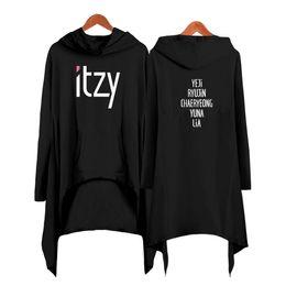 616b89834e7 Itzy queda vestido de compras mulheres da moda camisola com capuz 2019 novas  roupas kopop pullover legal plus size