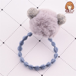 $enCountryForm.capitalKeyWord UK - 3pcs lot New Plush Ball Winter Bear Cute Children Hairpin Hairring Germination Jewelry Gift Hair Accessories