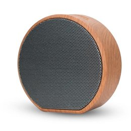 phone dock radio UK - Hot Sale A60 Wooden Bluetooth Speaker Handsfree MP3 Super Mini Wireless Speaker Support SD Card AUX Subwoofer Radio For Smartphone