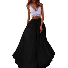 847ecc4b002cc8 wholesale skirts womens elastic high waist tulle long skirts for women  elegant Women's Chiffon Solid Color Party Elegant Skirt