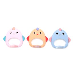 $enCountryForm.capitalKeyWord UK - Food Grade Non-toxic Best Silicone Baby Teether Toys For infant teething To soothe teething baby Colorful Comfortable Size Cute Chick