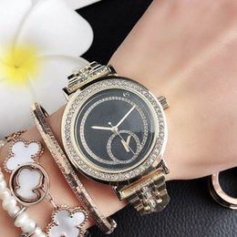 michael glasses UK - Fashion M crystal design Brand Watches women's Girl MICHAEL Big letters style Metal steel band Date Calendar Quartz Wrist Watch M88