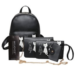 $enCountryForm.capitalKeyWord Australia - uggage Bags Backpacks 4Pcs Set New Designer Fashion Women Backpack Mini Soft Touch Multi-Function Bag PU Leather Women Backpack Shoulder ...