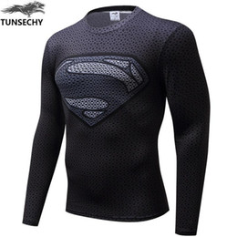 $enCountryForm.capitalKeyWord Australia - New 2017 Brand Clothing Fitness Compression Shirt Men Superman Bodybuilding Long Sleeve 3D T Shirt Crossfit Super Tops Shirts