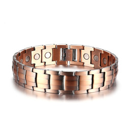 $enCountryForm.capitalKeyWord Australia - 15MM High Quality Retro Men's Magnets Bangle Copper Gemstone Bracelet Watchband Jewelry Gift for Men Boys J003