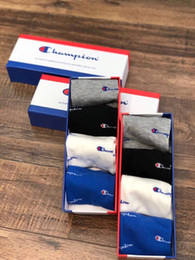 Sock Packs Australia - Fashion Brand Ship Socks Spring and Summer Sweat Absorbing and Odor Proofing Low Top Socks Thin Cotton Socks 4 pairs Box-packed