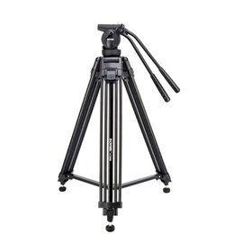 Professional Camcorder Tripods UK - VT666 Tripode Professional Heavy Duty Stable Tripod Stativ With 360 Degree Panoramic Fluid Head For Camera DV Camcorder