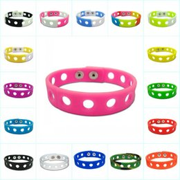 Silicone ShoeS online shopping - colors Soft Silicone Bracelet Wristband cm Fit Shoe Croc Buckle Shoe Charm Accessory Kid Party Gift Fashion Jewelry