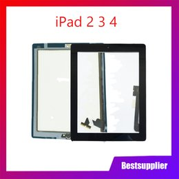 apple ipad touch tablet UK - For iPad 2 3 iPad 2 iPad 3 Touch Screen Digitizer Sensor Glass Panel with Home Button