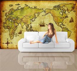 $enCountryForm.capitalKeyWord Australia - custom size 3d photo wallpaper living room bed room kids room mural Old Kraft World Map picture sofa TV backdrop wallpaper non-woven sticker