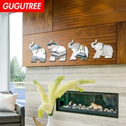 $enCountryForm.capitalKeyWord Australia - Decorate Home 3D elephant mirror art wall sticker decoration Decals mural painting Removable Decor Wallpaper G-218