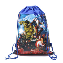 $enCountryForm.capitalKeyWord UK - The Avengers Non-woven Drawstring Bags Kids Cartoon Designer Backpacks Boys Girls School Bag Children Double-sided Backpack Gift New C81904