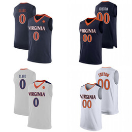 Discount top jersey shirt basketball - Men Virginia College Basketball Jerseys Customs Any Name Any Number Stitched Basketball Shirt S-4XL Free Shipping