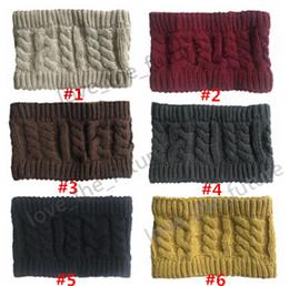 $enCountryForm.capitalKeyWord Australia - 6 colos Winter Warmer Ear Knitted Headband Turban For Women Lady Crochet Bow Stretch Elastic Hairband Headwrap Hair Accessories