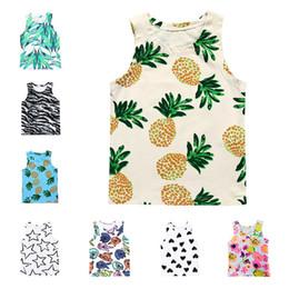Wholesale Infant Underwear Australia - Ins new Summer Cartoon baby Vest baby girl clothes boys Tops Kids Underwear baby infant boy designer clothes designer girls tanks A5540
