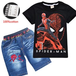 $enCountryForm.capitalKeyWord Australia - SPIDERMAN Boys Clothing Set Summer Cotton Spider-Man Kids Clothing Sets Suit For Boys T-Shirt+Pants 2pcs Children Set