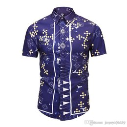 b10e50131135 New 2018 Mens Casual Design Shirt Hawaiian Beach Printed Floral Holiday  Shirt for Men Autumn Fit Short Sleeve Cotton Plus Size M-2XL