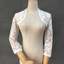 $enCountryForm.capitalKeyWord Australia - High end customization Lace Long Sleeve jackets Wedding elegant country style Suite boleros Ivory color Bridal Wedding Accessories