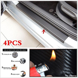 $enCountryForm.capitalKeyWord Australia - 2018 4PCS Car Accessories Door Sill Scuff Welcome Pedal Protect Carbon Fiber Stickers Fast ship way