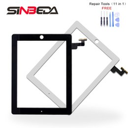 screen replacement for ipad mini NZ - Sinbeda For iPad Mini 1 A1455 A1454 A1432 for ipad Mini 2 A1489 A1490 A1491 Touch Screen Digitizer Replacement White and black