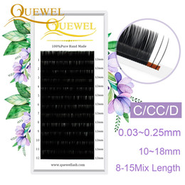 fiber lash extensions NZ - Quewel Lashes Extension Silk Fiber 12 Lines Tray Wholesale Single Eyelash Extension Makeup Eyelashes Personality Eyelashes LM