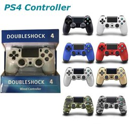 $enCountryForm.capitalKeyWord Australia - Wholesale PS4 Controllers For PS4 USB Wired Connection Game Gamepad Controller For SIXAXIS Playstation 4 Control Game Joysticks