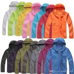 Mens coat xxxl online shopping - 2018 New Summer Womens Mens Brand Rain Jacket Coats Outdoor Casual Hoodies Windproof and Waterproof Sunscreen Face Coats Black White XS XXXL