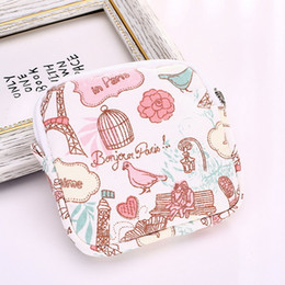 White Cotton Napkins Australia - fashion New pattern fresh candy Lovely coin purse Admission High-capacity Sanitary napkin package printing