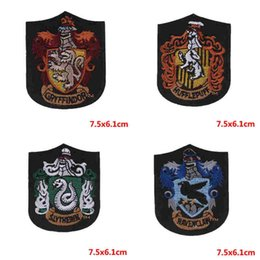 $enCountryForm.capitalKeyWord Australia - Harry Potter Embroidery Badges Harry Potter Patches Gryffindor Slytherin Hufflepuff Embroidered Iron On Patches for shirt jeans coat