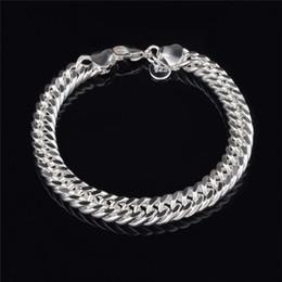 $enCountryForm.capitalKeyWord NZ - 2015 New Design 6MM 8MM 10MM 925 Sterling silver Figaro chain bracelet Fashion Men's Jewelry Top quality K6090