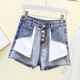 $enCountryForm.capitalKeyWord Australia - New Denim Shorts Women 2019 New Korean Casual Wear Outside Short Jean Female High Waist Wide Leg Pants Summer Cowboy Hot Pants
